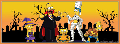 Capas para Facebook  The Simpsons halloween