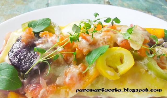 lasagne wegetariańska na parze, z parowaru