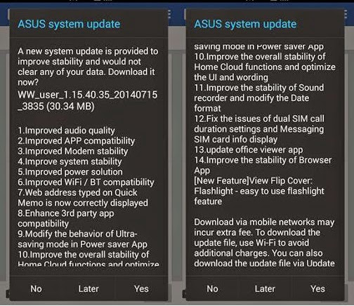 Cara Upgrade Asus Zenfone Android