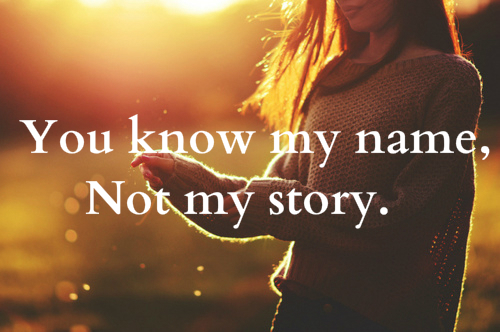 would you know my name: