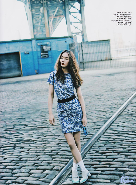 Machi Girl K-Pop Experience: F(x)'s Krystal Haper's Bazaar ... F(x) Krystal 2013