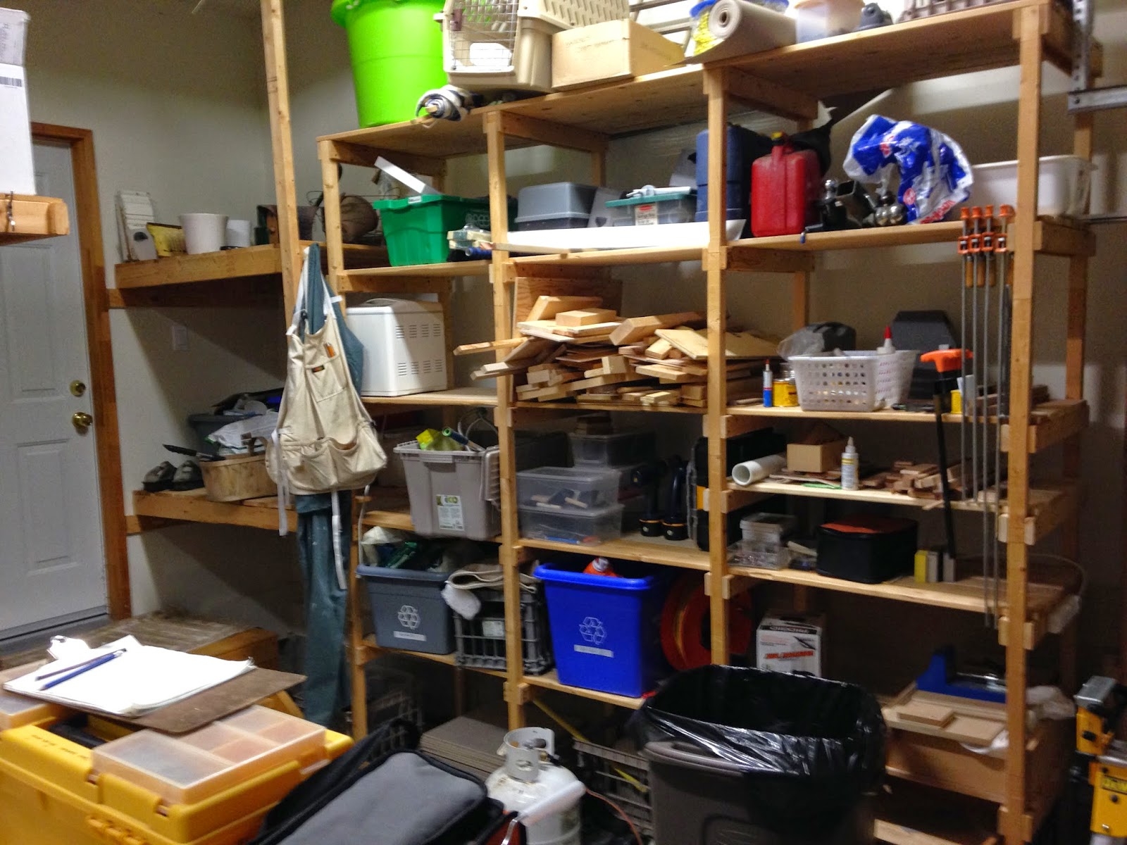 Custom garage shelving and storage for Free standing garage
