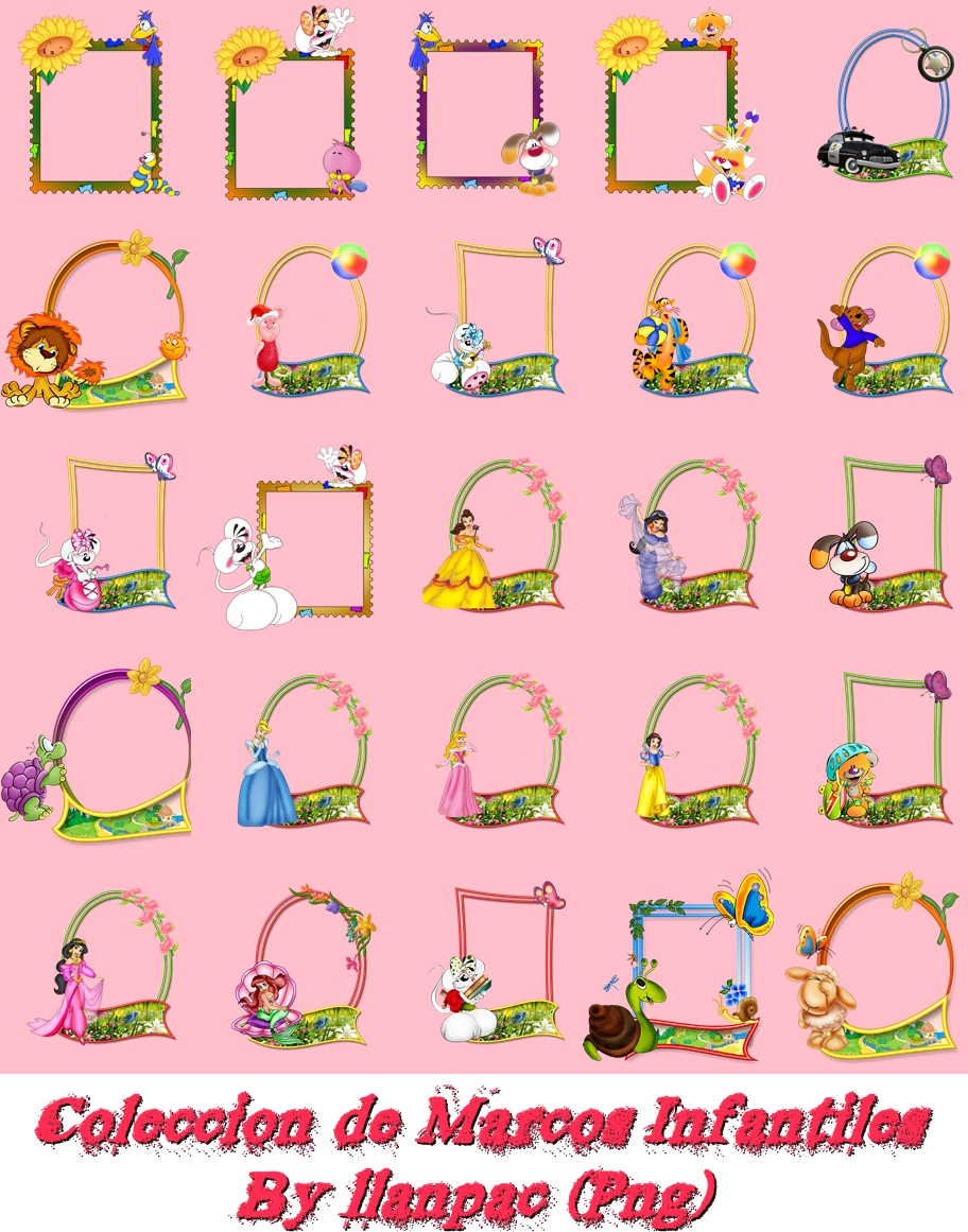 Descargar Pack de 90 Marcos infantiles | Trucos para tus fotos ...
