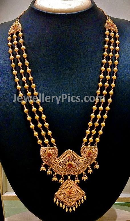 Antique CZ pendant gundu haram