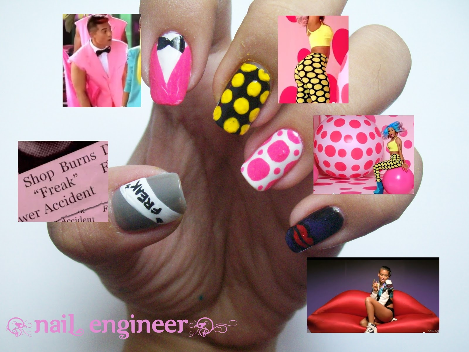 Nail Engineer: The Boys by Nicki Minaj & Cassie - Nail Art