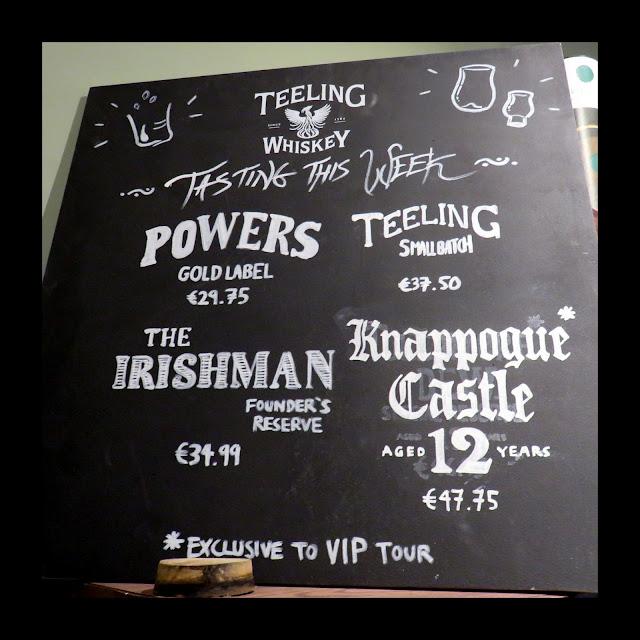 The Irish Whiskey Museum in Dublin - Whiskeys to taste