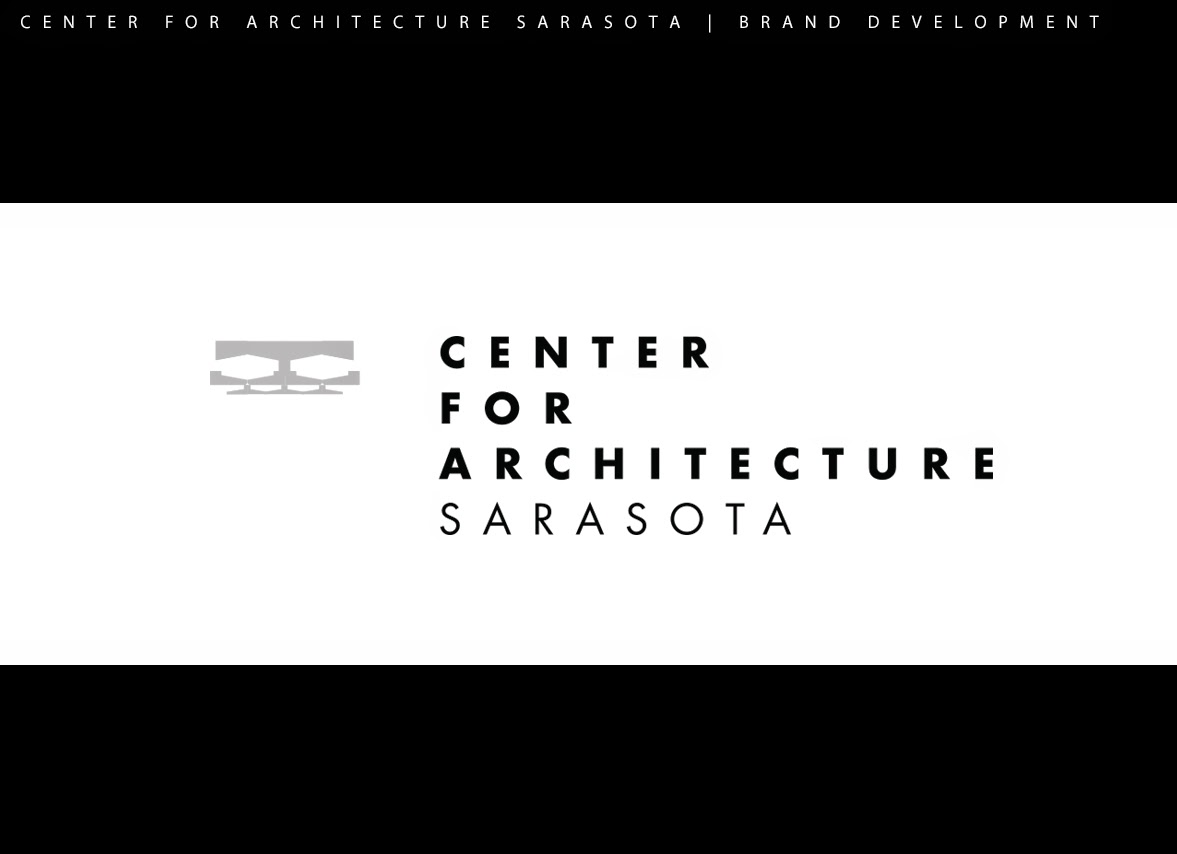 Center for Architecture Sarasota, logo design by Jim Keaton