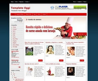 Oggi Blogger Template