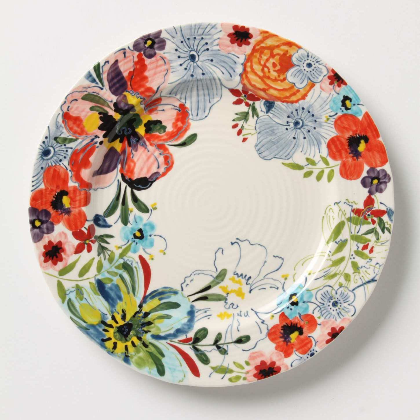 Wall Flowers Decorative Plates in the Dining Room Swoon Worthy