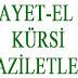 AYET-EL KÜRSİ 'NİN FAZİLETİ