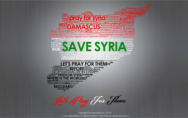 Pray for syria stop war zippien blog for Syria war template