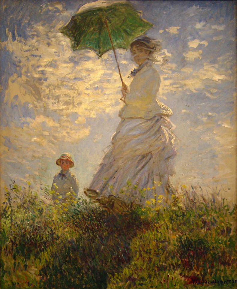 A chacun son image ! - Page 4 La+promenade+ou+la+femme+%C3%A0+l%27ombrelle+de+Claude+Monet