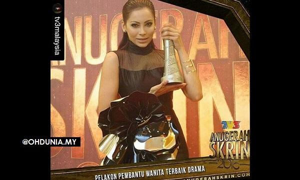 Raja llya teruja rangkul Pelakon Pembantu Wanita Terbaik Drama ASK2015