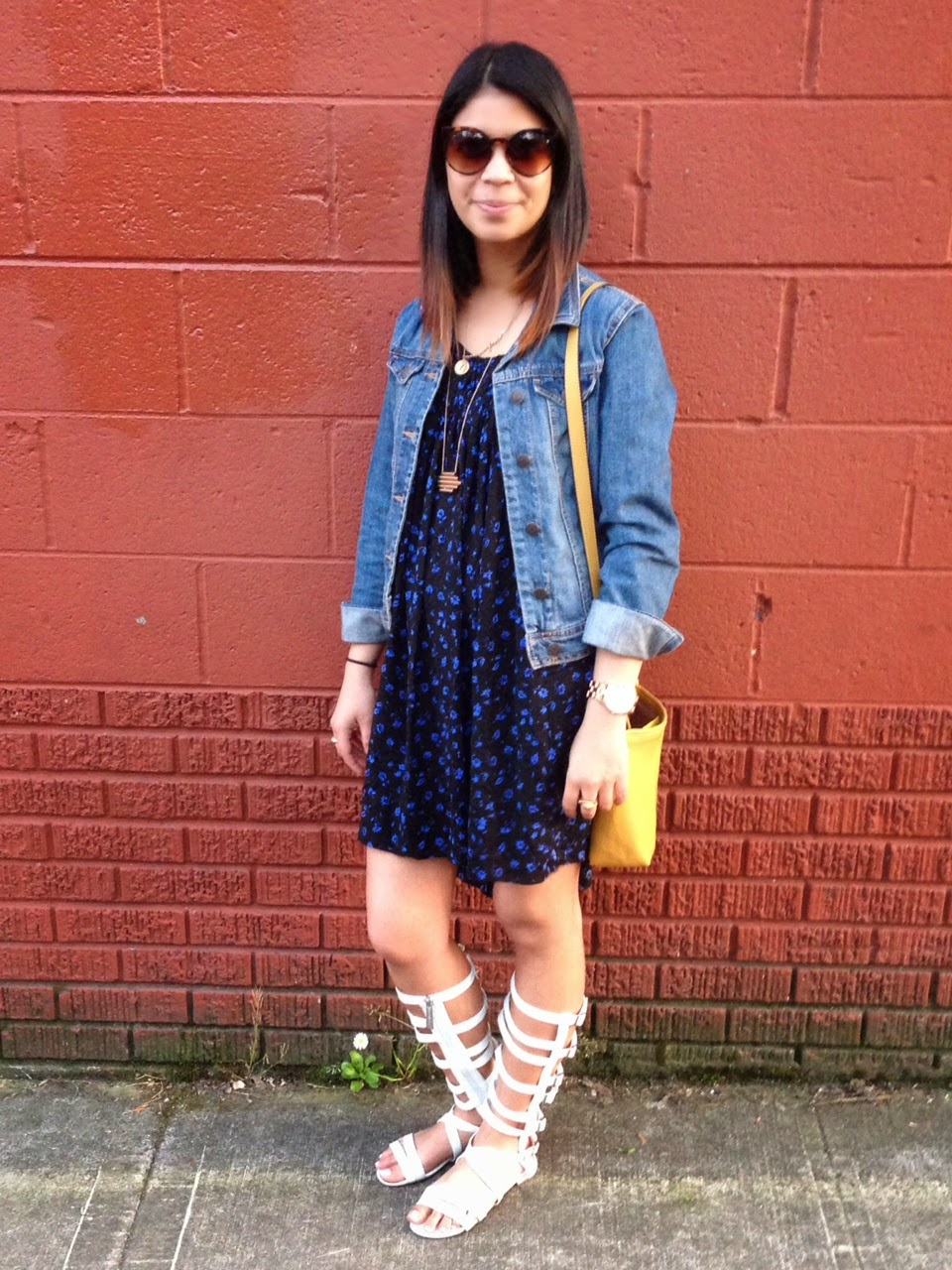 outfit of the day, shift floral dresses, forever 21, gladiator sandals, portland blogger, fashion blogger
