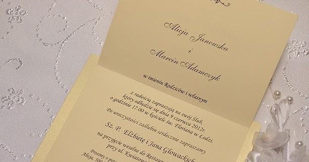 Inspiracje ślubno Weselne Odmiana Imion I Nazwisk Na Zaproszeniach