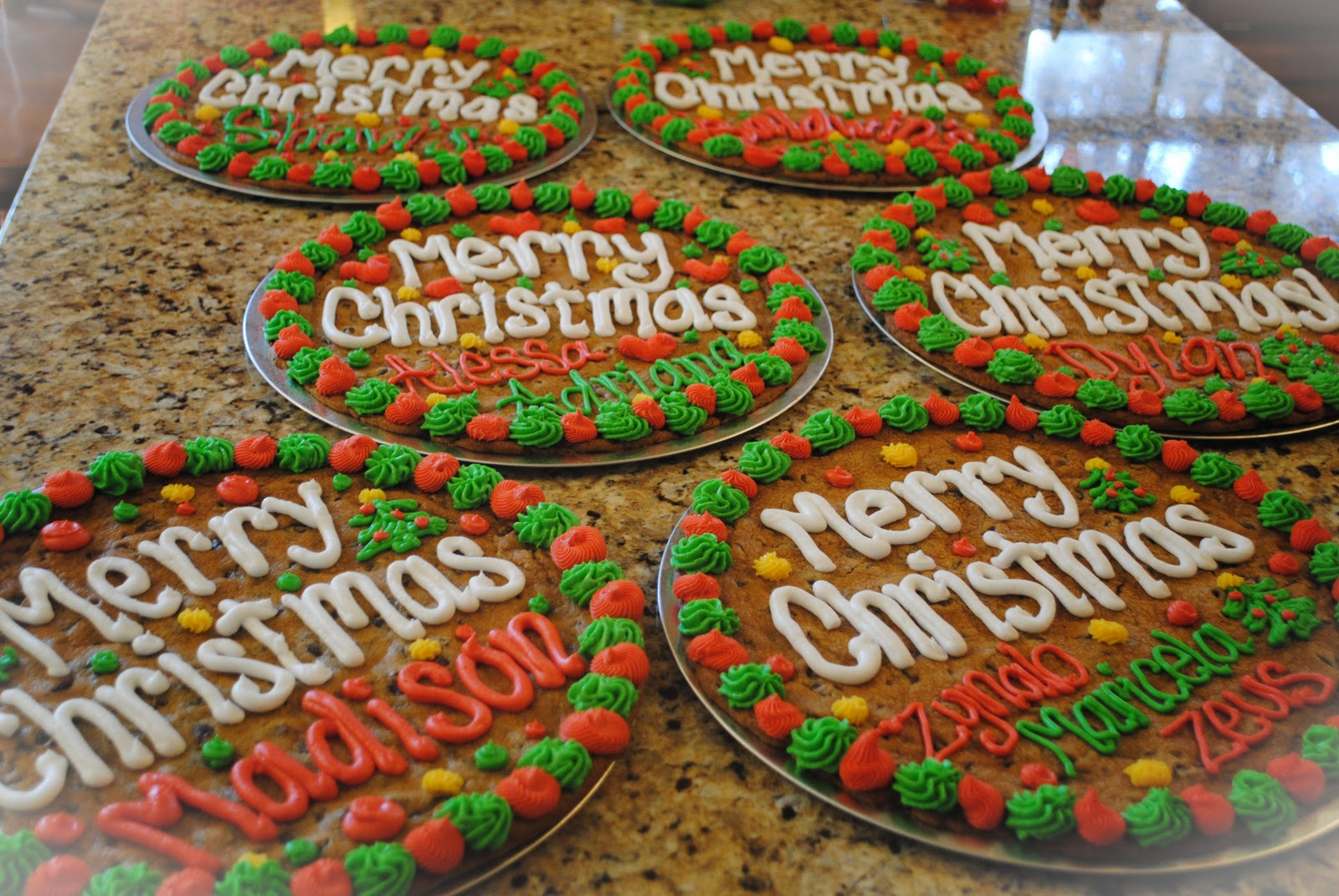 Candace S Cookie Creations Christmas Cookie Cakes