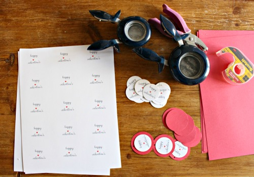 diy valentines tags punched