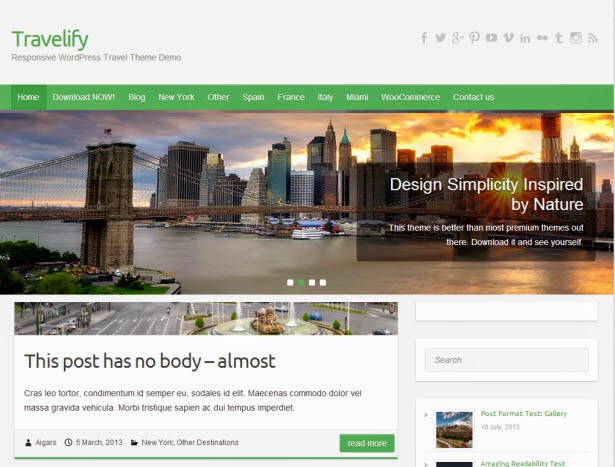 Travelify – Travel WordPress Theme