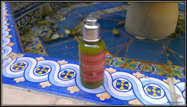 Beauty To Go Après-Shampoing L'Occitane valise cabine miniature soin, shampoing soin cheveu 5 huiles essentielles
