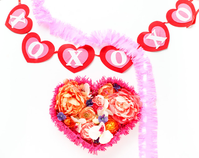 DIY Floral Heart Wall Art for Valentine's Day
