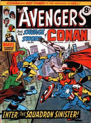 Marvel UK, the Avengers #104, Squadron Sinister