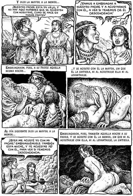 Robert Crumb, Génesis, cómic, viñeta, págiga, biblia