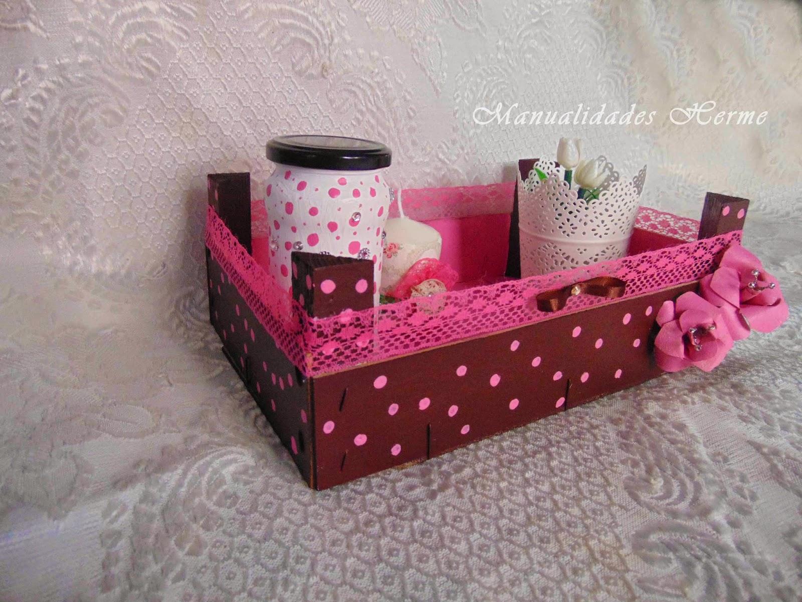 Manualidades herme diy caja de fruta decorada - Como decorar cajas de madera de fruta ...