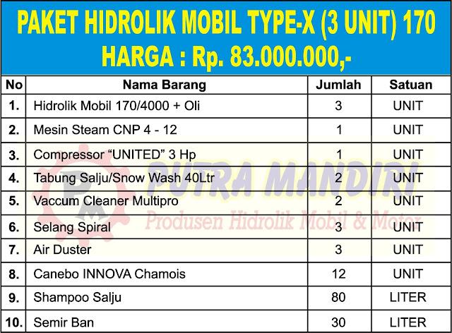 PAKET HIDROLIK MOBIL TYPE-X ( 3 UNIT ) 170