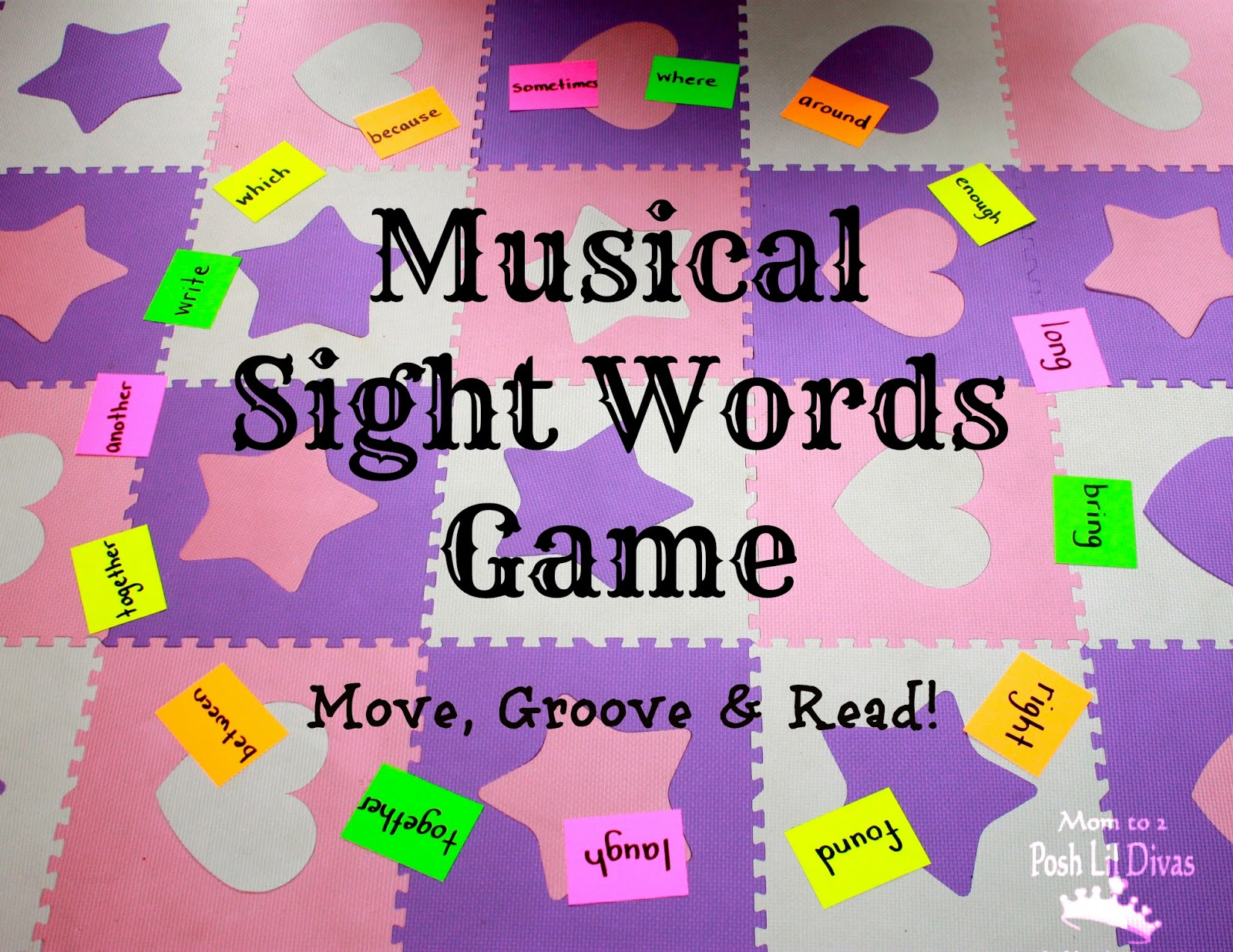 worksheet Sight Word Game mom to 2 posh lil divas musical sight words game move groove and read
