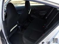 2012 Nissan Versa's back seat
