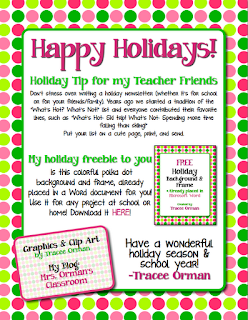 Free Downloads for the Holidays! Grades 3-6  www.traceeorman.com