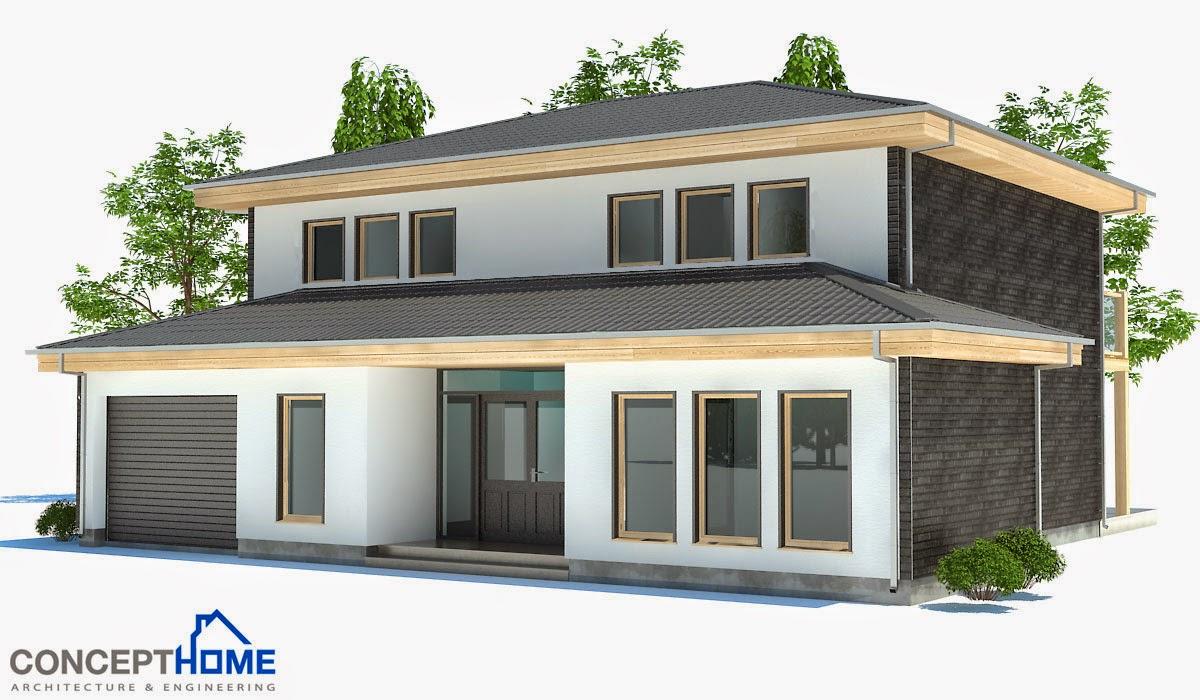Proyectos de casas modernas proyecto de casa moderna ch176 for Proyectos casas modernas