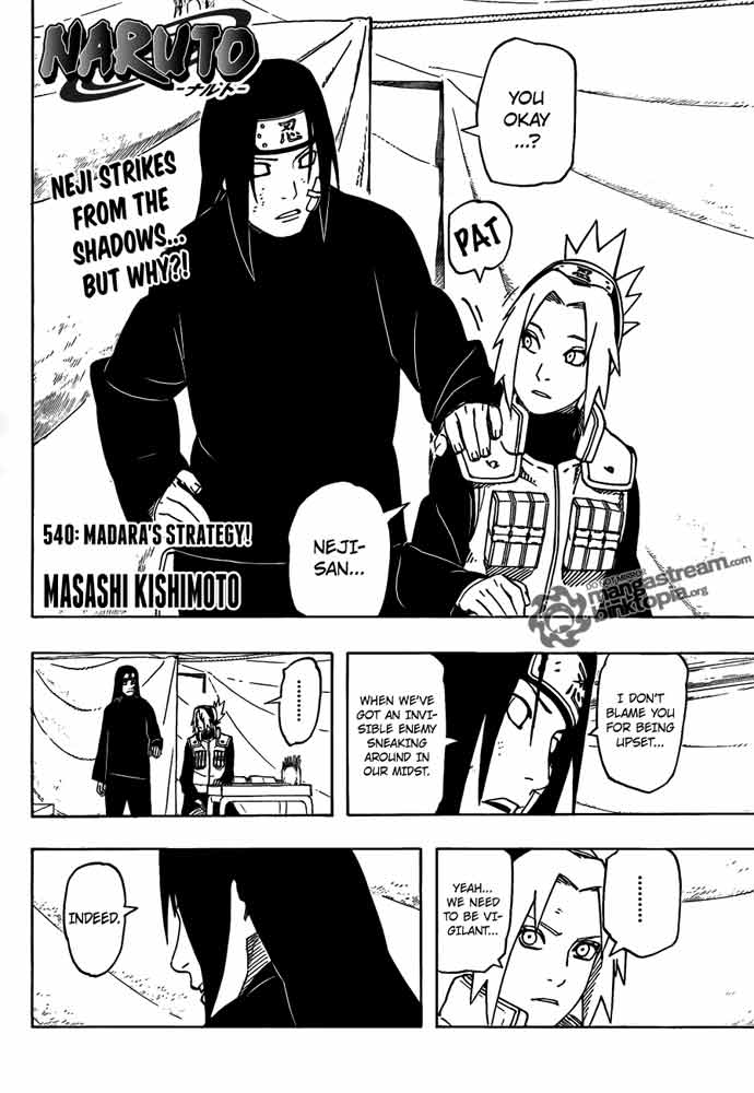Naruto Manga Chapter 540 Madara's Strategy
