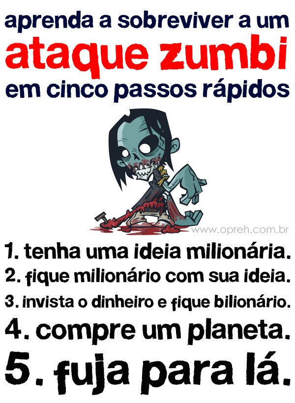 zumbi, dicas