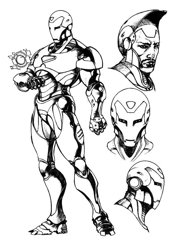 Ausmalbilder Iron Man Zum Ausmalen