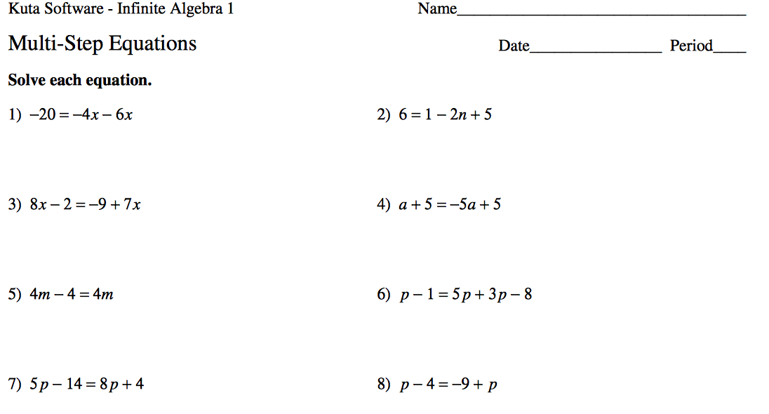 Nevada ABE Professional Development – College Math Worksheets