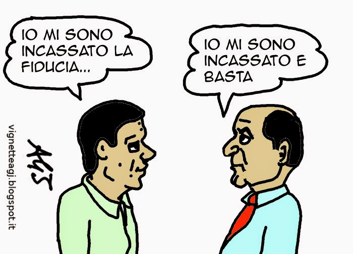 Minoranza Pd,  Italicum, fiducia, satira , vignetta