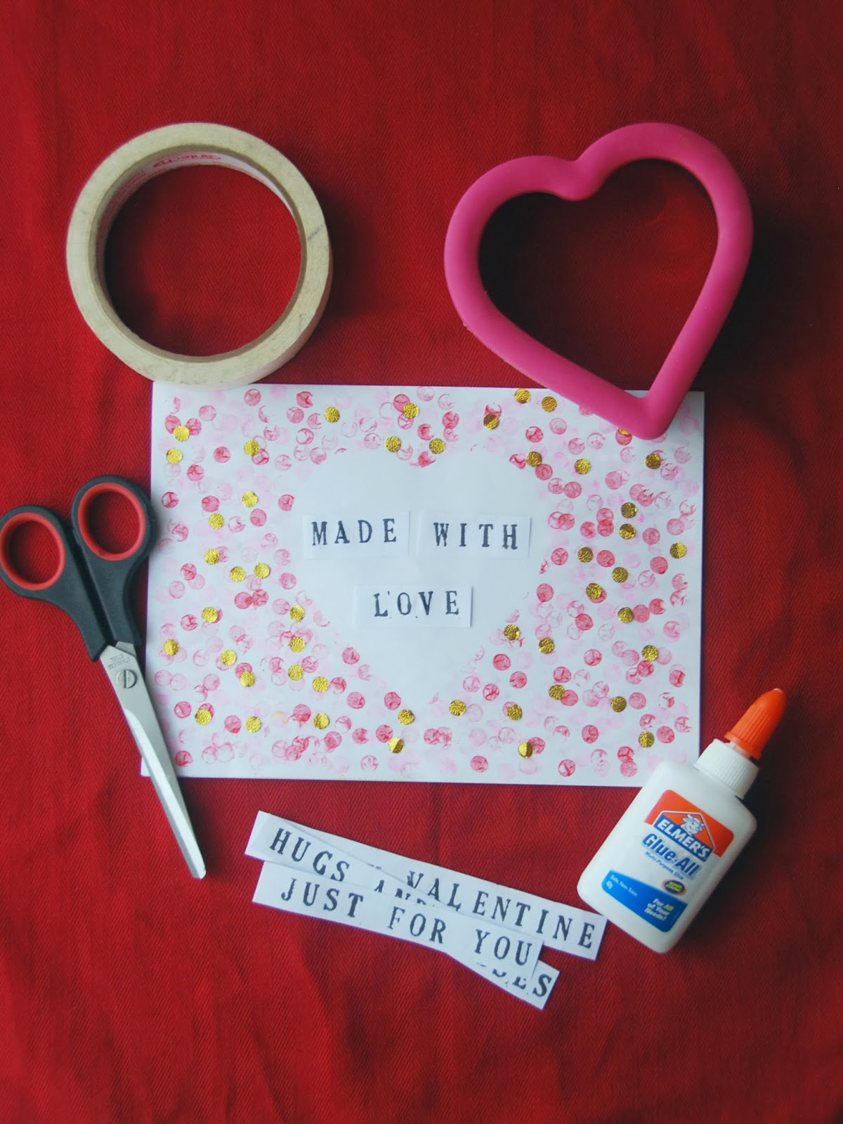 The pink doormat valentine greeting cards with rubber erasers on a piece of paper trace the outline of the heart template with a pencil you can use a heart shaped cookie cutter as a template or you can just draw the m4hsunfo