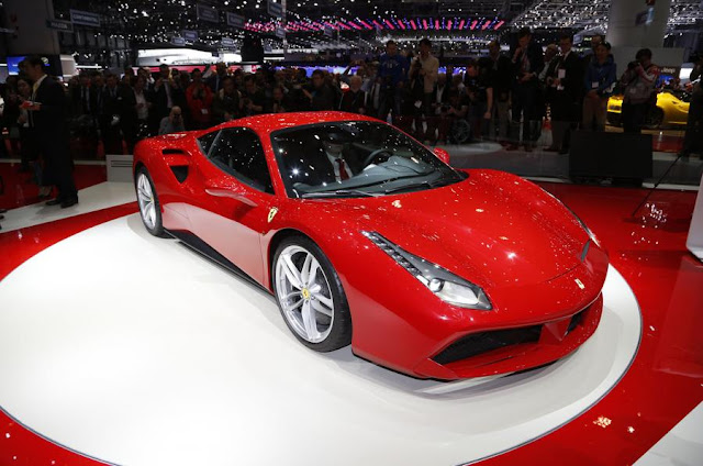 New Ferrari 488 GTB 2015 best performace and price front side view