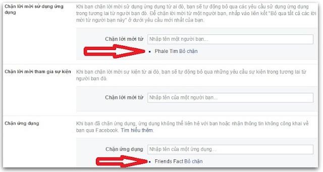 chặn ứng dụng facebook 3