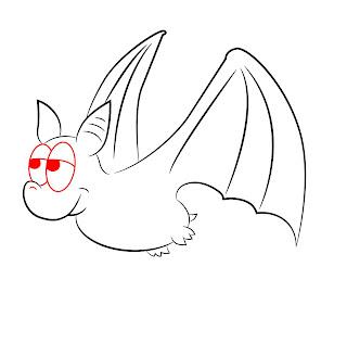 How To Draw A Cartoon Bat Step 7