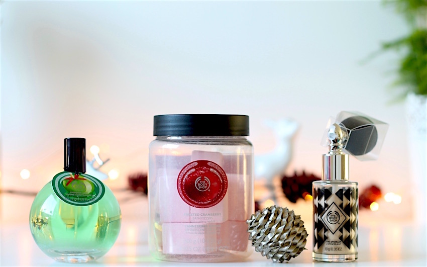 products from the body shop christmas range