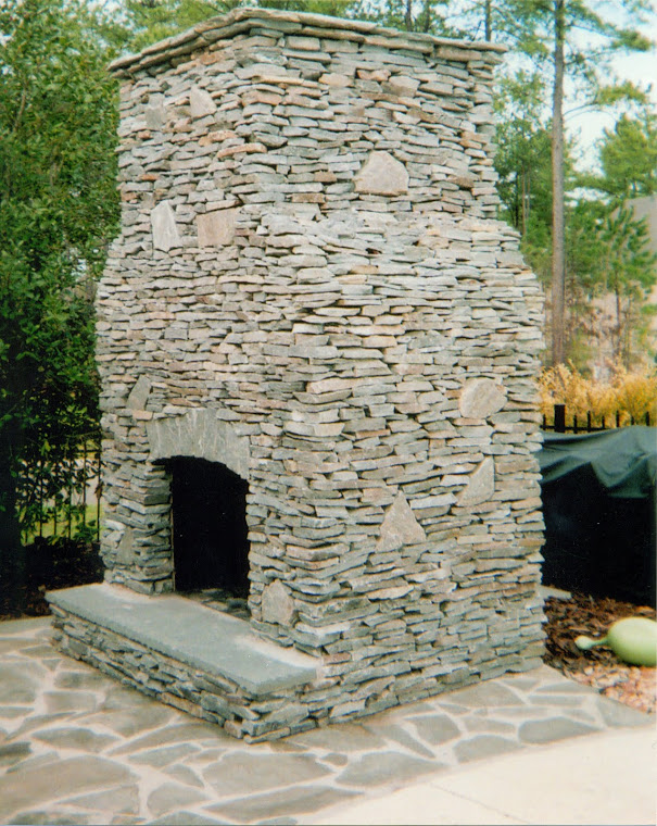 drystack outdoor fireplace