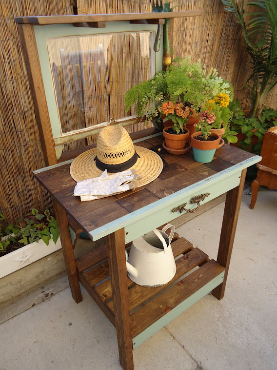 1920s Window Table with Vintage Hardware-SOLD