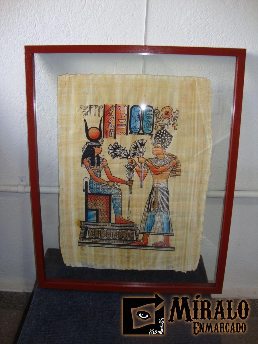 Enmarcado de papiros egipcios doble vidrio y marcos chatos - Vidrio plastico para cuadros ...