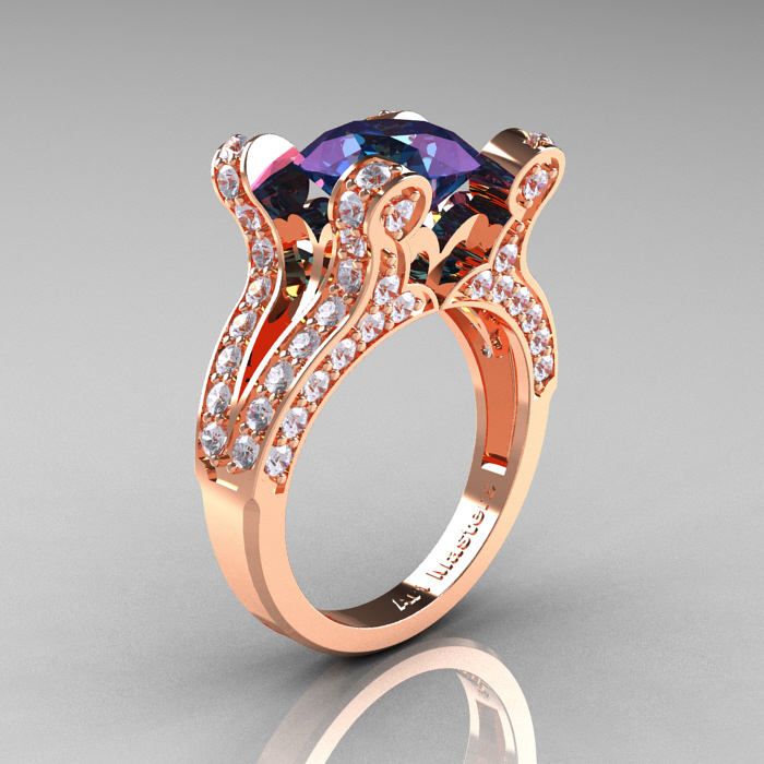 Rose Gold Engagement Rings For Pisces