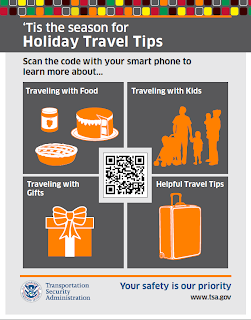 Holiday QR code sign.