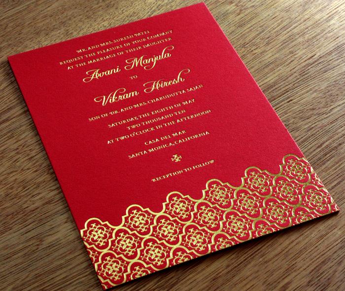 Silver Indian Wedding Invitation: Silver Wedding Invitations: Indian Wedding Invitations