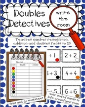 http://www.teacherspayteachers.com/Product/Doubles-Detectives-Write-the-Room-FREEBIE-949886