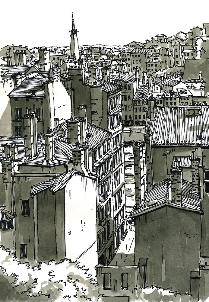 14-Quai-de-Saône-depuis-la-place-Rouville-Lyon-France-Bruno-Mollière-Architectural-Street-Drawings-and-Sketches-www-designstack-co